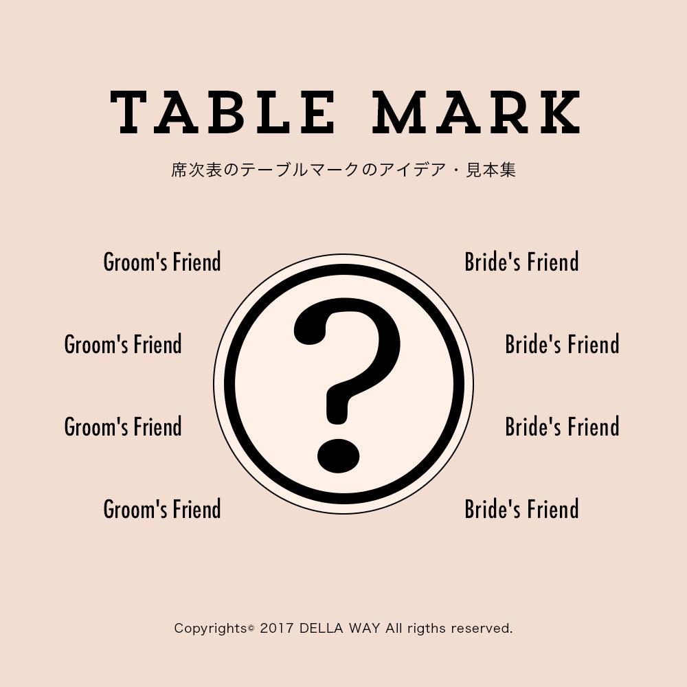 これは面白い!席次表のテーブルマーク・番号をアレンジしたアイデア・見本集